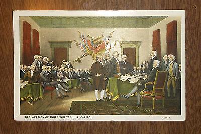 Postcard Vintage   Declaration Of Independence Us Capital   Unsent