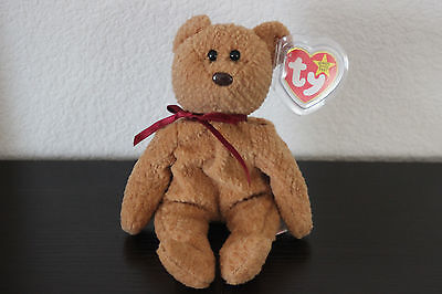 Curly Beanie Baby - New Extremely Rare Curly Bear Retired TY Beanie Baby 15 Distinctive Tag Errors