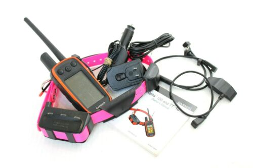 Garmin Alpha 100 TT10 System - Excellent Condition w/ Chargers, Pink Strap