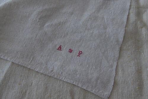 SUPERB 19 th CENTURY ANTIQUE HANDWOVEN HEMP SHEET / FABRIC / TEXTILE - AP