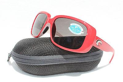 COSTA DEL MAR Little Harbor POLARIZED Sunglasses Coral White/Gray 400 GLASS NEW
