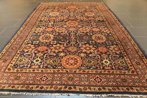 Fein Handgeknüpft Perser Orient Teppich Kazak Heriz Carpet Rug Tappeto 255x165cm