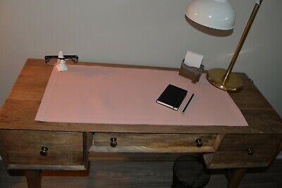 Leather Desk Pad - Unique Pink Large Deskpad - Mouse Pad