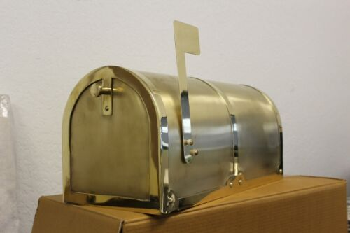 Post Mount Solid Brass Mailbox Qualarc MB3000, BEAUTIFUL HEAVY, 60% OFF Reg $539