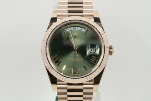 Rolex Day-date 40 Model 228235 Green Roman Numeral Dial