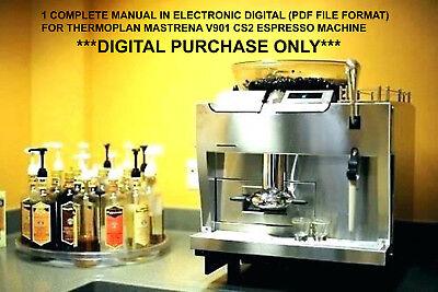 Thermoplan Mastrena V901 Cs2 Espresso Machine 1 Complete Manual Digital Purchase