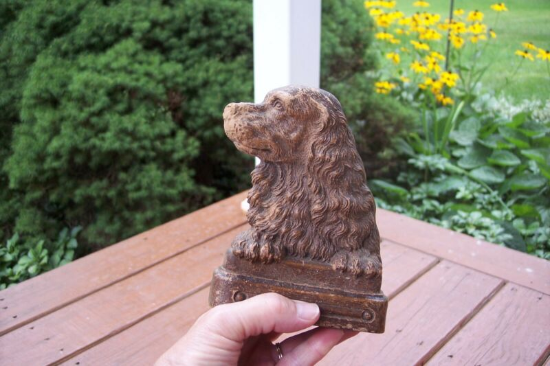 Vintage Syroco Ornawood COCKER SPANIEL Dog Bookend Canine Mid-Century