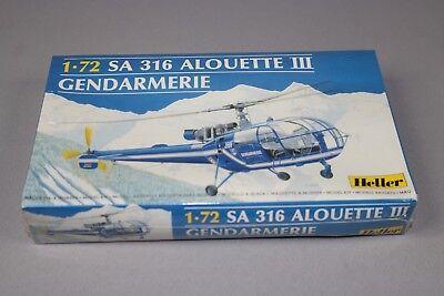 ZF555 Heller 1/72 maquette helicoptere 80286 SA316 ALOUETTE III gendarmerie 1989
