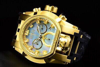 Invicta Reserve 52mm Bolt Zeus MAGNUM Swiss Chrono DIAMOND Dual Time SS Watch