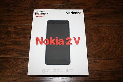 """New Verizon Prepaid Nokia 2 V 8GB Memory Prepaid 5.5"""" HD Cell Phone Blue/Silver"""