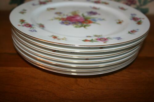 7-VINTAGE SANGO DRESDENIA MADE IN OCCUPIED JAPAN-DINNER PLATES 10""