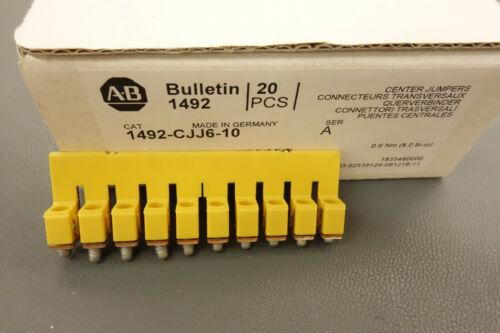 New Box of 20 Allen Bradley 1492-CJJ6-10 Center Jumpers (10 Pole)