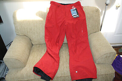 QUIKSILVER SNOW Men's UTILITY Snow Pants - RED - Medium - NWT Brand New
