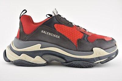 ecfe051aebe1 NIB Balenciaga Triple S Black Red Bred Speed Flat Sneaker Trainer 40 Men US  7