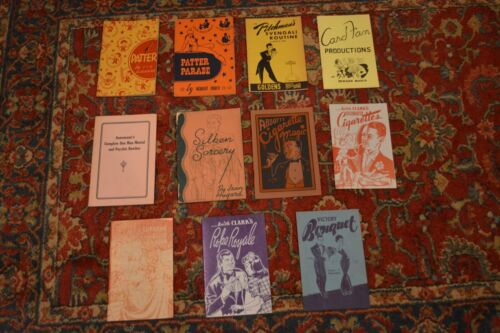 MAGIC BOOKS: A COLLECTION OF 11 VINTAGE BOOKLETS OF MAGIC/CARD TRICKS