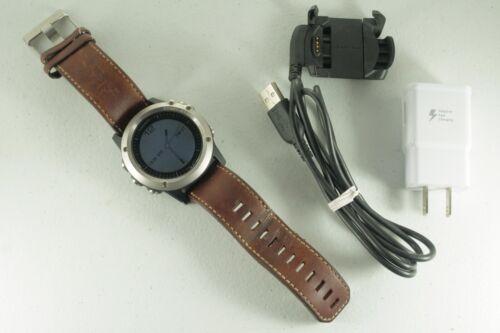 Garmin D2 Bravo Aviation Pilot Watch w/ Leather Band & Accessories Great Cond!