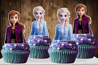Disney Frozen Cupcake Toppers (Disney FROZEN 2 ELSA AND ANNA Cupcake Topper)