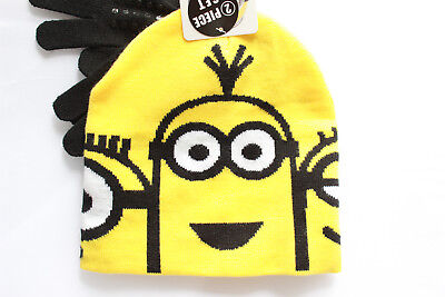 Despicable Me Minions Kids Winter Hat Beanie Mittens Gloves 2 pieces Set