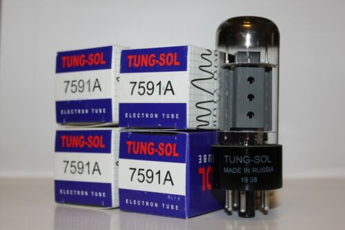 Matched Quad of Tung Sol 7591A tubes, Brand NEW in Box !