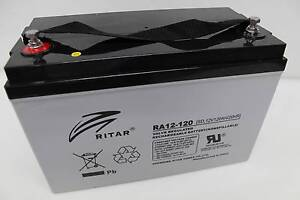 RITAR 120AH AMP BATTERY AGM 12 VOLT 12V DEEP CYCLE CARAVAN