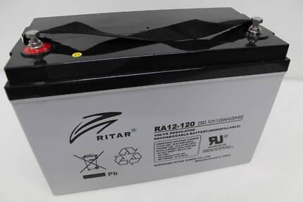 RITAR 120AH AMP BATTERY AGM 12 VOLT 12V DEEP CYCLE  CARAVAN Valley View Salisbury Area Preview