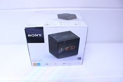Sony AM/FM Alarm Clock Radio with Adjustable Brightness Control, Black