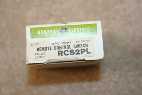 NEW General Electric RCS2PL Low Voltage Remote Control Switch Ivory.  ITEM 280