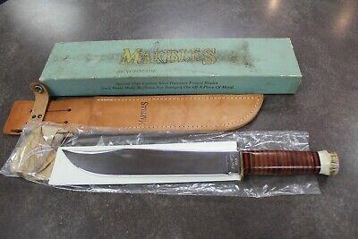 "Marbles Benchmade Trailmaker Knife STAG 10"" MSA 1992 + Sheath & Box 1176-MTN"