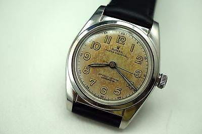 ROLEX 5050 BUBBLEBACK STAINLESS STEEL ORIGINAL LUME DIAL DATES 1950 NICE BUY NOW