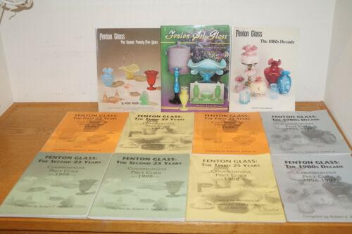 LOT OF 11 FENTON GLASS PRICE GUIDES IDENTIFICATION BOOKS