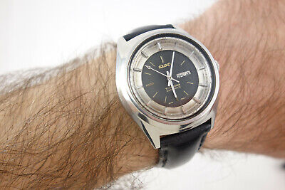 Rare Vintage Seiko Automatic Time Sonar 17J Automatic Watch Runs Strong