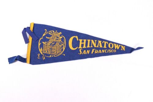 Vintage Chinatown San Francisco Pennant