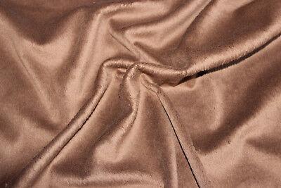 Fellstoff, Kurzhaarfell, Chinchilla-Optik, hellbraun, Br: 148 cm, Mat: 100 PE