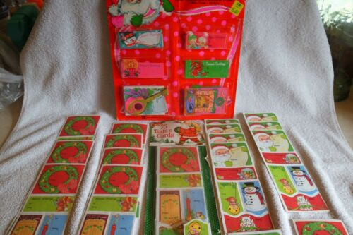 376 Vintage Christmas Gift Tags Cards Seals-Original Package-Some Loose-UNUSED