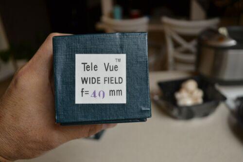 Tele Vue 40mm telescope eyepiece Televue Wide Field NOS original box