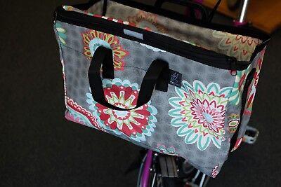 Brompton Folding Bike Front Basket Improved Design Mandala Pink