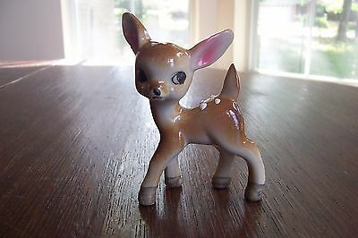 Vintage Ceramic Fawn Figurine Made in Japan