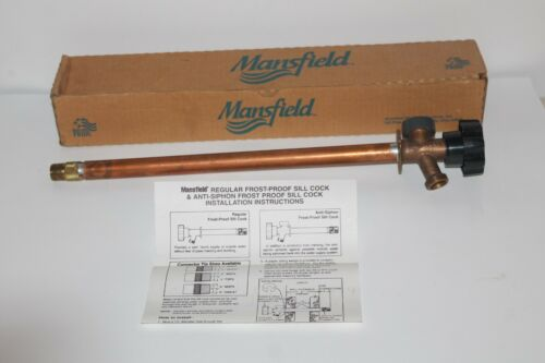 "MANSFIELD COPPER ANTI-SIPHON FROST PROOF 578-14"" X 1/2"" SILLCOCK * NEW 2"