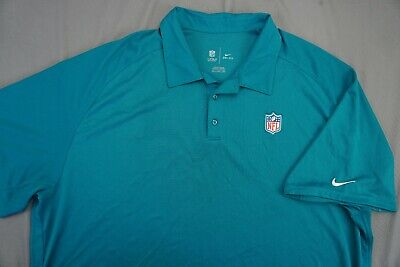 Nike Dri-Fit Onfield Apparel NFL Polo Golf Shirt. Teal, Men's Size 4XL. EUC!!