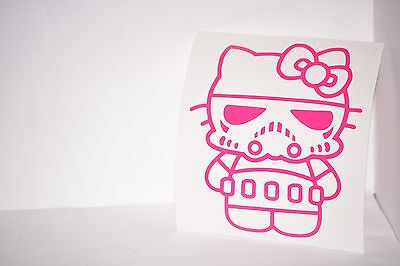 Stormtrooper Hello Kitty Vinyl Car Laptop Decal Sticker Choose Color Star Wars](Hello Kitty Stormtrooper)