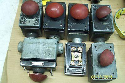 1 Mackworth Rees 662 Explosion Proof STOP Mushroom Plunger  PRESS
