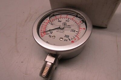 Mcdaniel Control Ammonia Gauge -30hg300psi 14 Npt Code K9znh3