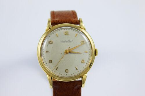 Vintage IWC Herrenarmbanduhr Handaufzug in 18Kt/750 Gelbgold!