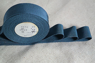 Vintage Gros Grain Ribbon Price is per Yard 1 12 inches wide CottonRayon Blend Brown