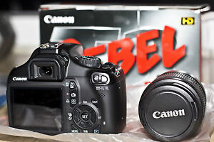 NIB Canon EOS Rebel T3 / 1100D 12.2 MP Digital SLR Camera - Kit w Lens 18-55
