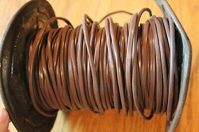 Lennox Thermostat Wire Apx 200 Ft Copper Cable Vintage Brown