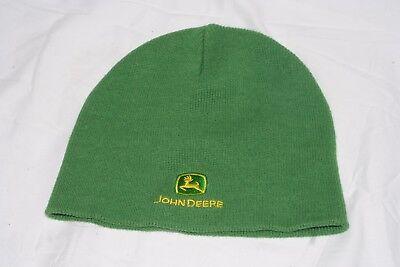 JOHN DEERE Green Beanie Knit Hat, One Size