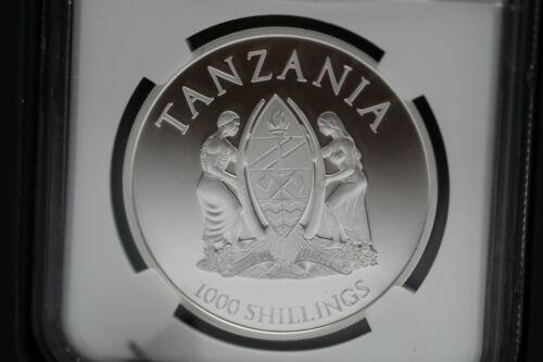 2015 Tanzania Silver Coin Elephant