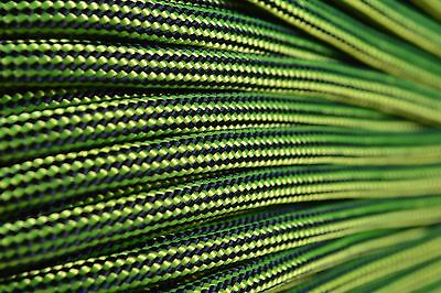 Neon Yellow and Black Stripes - 550 Paracord 7 strand Cord 10 25 50 100 ft - Neon And Black