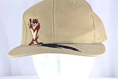 pretty nice 2405c c7b8c Looney Tunes 1995 Tasmanian Devil Tan Baseball Hat Snapback